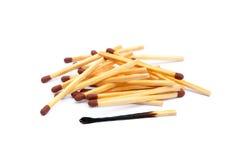 Положенные используемые matchsticks Стоковое Изображение