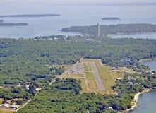 Положенный в авиапорт залива, воздушный Стоковые Фотографии RF