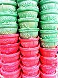 Положите зеленый цвет с красным цветом стоковое изображение rf