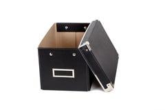 положите изолированное открытое в коробку Стоковая Фотография RF
