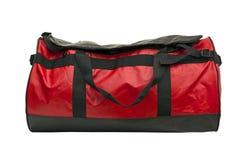 положите кожаный красный цвет в мешки Стоковое Изображение