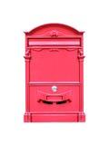 положите красный цвет в коробку почты Стоковое Фото