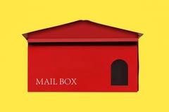 положите красный цвет в коробку почты Стоковое фото RF