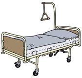 положите мать в постель зеленого стационара маленькую около newborn s Стоковое Изображение RF