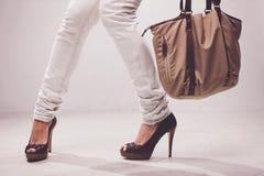 положите ноги в мешки Стоковые Фото
