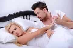 положите пар в постель Стоковое Фото