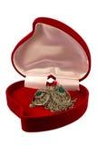 положите серебр в коробку Стоковое Фото