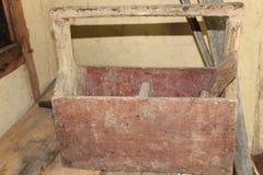 положите старое деревянное в коробку Стоковая Фотография RF
