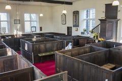 Положите театральные ложи и амвон в коробку, часовню Unitarian, Rivington Стоковые Фото
