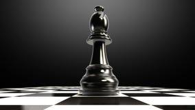 Положите шахматную фигуру на доску, кончая епископ бесплатная иллюстрация
