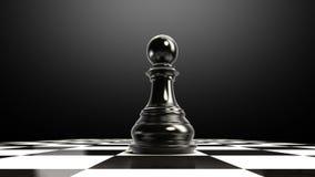 Положите шахматную фигуру на доску, кончая пешку бесплатная иллюстрация
