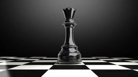 Положите шахматную фигуру на доску, кончая ферзь иллюстрация штока