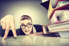 Положительная бизнес-леди начинает работать Стоковое Изображение RF