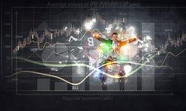 Положительная динамика рынка Мультимедиа Стоковые Изображения RF