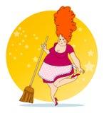 Положительная домохозяйка Стоковая Фотография RF