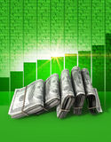 Положительные деньги рынка Стоковые Изображения RF