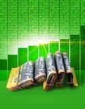 Положительные деньги рынка Стоковые Фотографии RF