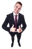 Положительный бизнесмен Стоковая Фотография