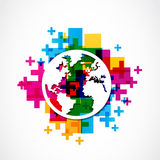 Положительный глобус мира Стоковое Изображение