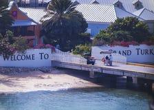Положительный знак к грандиозному острову турков Стоковое Фото