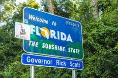 Положительный знак к положению Флориды Стоковое Изображение