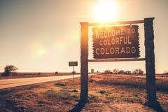 Положительный знак положения Колорадо стоковое изображение