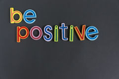 Положительный, сделайте не отрицательный Стоковое Изображение RF