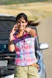Положительный служебный вызов автомобиля страхования Стоковые Изображения