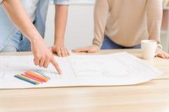 2 положительных партнера моделируют чертеж Стоковое Изображение RF