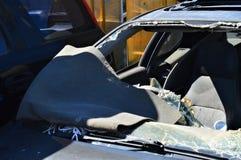 поломанный windscreen Стоковое Изображение