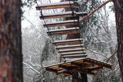 Полоса препятствий в зиме Стоковое Изображение RF