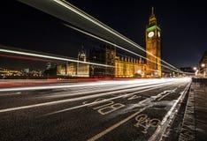 Полоса для движения автобусов Лондона Стоковое фото RF