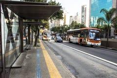 Полоса для движения автобусов Стоковая Фотография