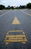 Полоса для движения автобусов Стоковые Изображения