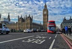 полоса для движения автобусов london Стоковое Фото