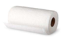 Полотенца белой бумаги крена горизонтально стоковые фотографии rf