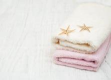 Полотенца ванны хлопка Стоковое Изображение RF