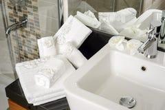 Полотенца ванны Стоковая Фотография