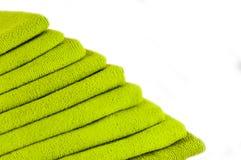 Полотенца зеленого цвета Терри Стоковые Изображения RF