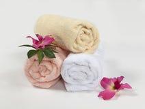 3 полотенца, изолированного на белой предпосылке Стоковое Фото