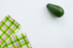 2 полотенца и авокадоа Стоковые Изображения