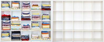 Полотенца, простыни и одежды Стоковые Фото