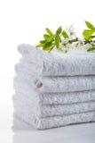 полотенца стога белые Стоковое Фото