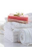 полотенца стога белые Стоковая Фотография