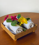Полотенца с цветками Стоковые Фотографии RF