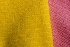 2 полотенца Terry цвета Стоковые Изображения