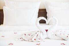Полотенце лебедя Стоковые Фотографии RF