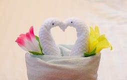 Полотенце лебедя Стоковые Изображения