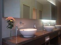 полотенце интерьера шара ванной комнаты Стоковое Изображение RF