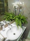 полотенце интерьера шара ванной комнаты Стоковые Изображения RF